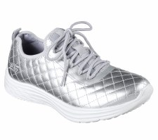 Skechers 'Sport Swift - Social Hustle' Ladies Trainers (Silver)