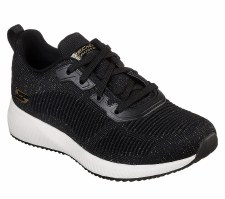 Skechers 'Bobs Sport Squad - Total Glam' Ladies Trainers (Black)