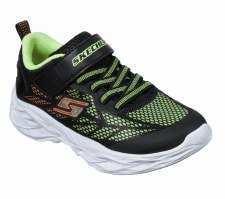 Skechers 'S Lights: Vortex Flash' Boys Trainers (Black/Lime)