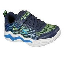 Skechers 'S Lights: Erupters IV' Boys Trainers (Black/Lime)