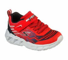 Skechers 'S Lights: Magna-Lights-Bozier' Boys Trainers (Red/Black)