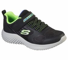 Skechers 'Bounder - Govern' Boys Trainers (Black/Lime)