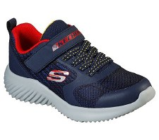 Skechers 'Bounder - Govern' Boys Trainers (Navy/Red)