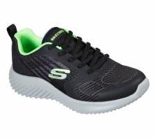 Skechers 'Bounder - Verkona' Boys Trainers (Black/Lime)