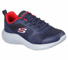 Skechers 'Bounder - Verkona' Boys Trainers (Navy/Red)