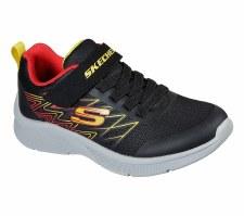 Skechers 'Microspec - Texlor' Boys Trainers (Black/Red)