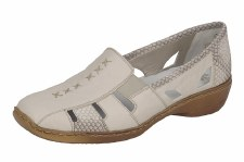 Rieker 'Dorris' Ladies Comfort Shoes (Beige/Stone)