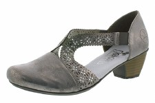 Rieker '41750' Ladies Shoes (Grey)