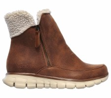 Skechers 'Synergy - Collab Boot' Ladies Ankle Boots (Chestnut)