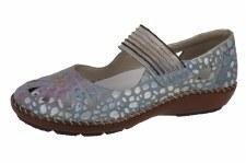 Rieker '44865' Ladies Comfort Shoes (Light Blue)