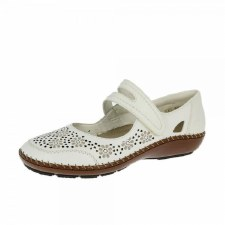 Rieker '44875' Ladies Comfort Shoes (White)