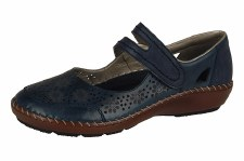 Rieker '44875' Ladies Comfort Shoes (Navy)