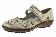 Rieker '44875' Ladies Comfort Shoes (Nude)