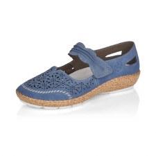 Rieker '44896' Ladies Shoes (Jeans Blue)