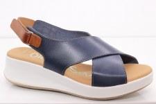 Oh My Sandals '4573' Ladies Sandals (Navy Combi)
