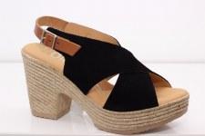 Oh My Sandals '4605' Ladies Sandals (Black Combi)