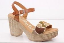 Oh My Sandals '4607' Ladies Sandals (Tan Combi)
