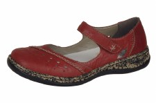 Rieker '46357' Ladies Comfort Shoes (Red)
