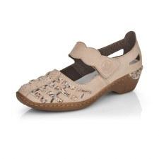 Rieker '48369' Ladies Shoes (Beige Multi)
