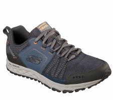 Skechers 'Escape Plan' Mens Trainers (Navy/Orange)