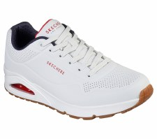 Skechers 'Uno - Stand On Air' Mens Trainers (White/Navy)