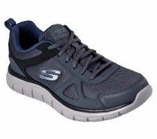 Skechers 'Track' Mens Trainers (Grey/Navy)