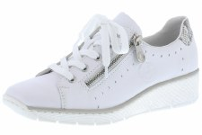 Rieker '53701' Ladies Shoes (White)