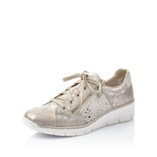 Rieker '53715' Ladies Shoes (Rose Metallic)