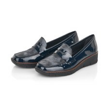Rieker '53732' Ladies Shoes (Navy)