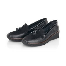 Rieker '53771' Ladies Shoes (Black)