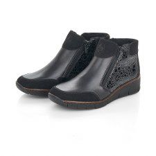 Rieker '53782' Ladies Ankle Boots (Black)