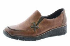 Rieker '53783' Ladies Shoes (Chestnut)