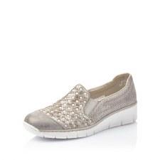 Rieker '537W4' Ladies Shoes (Grey/Rose)