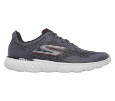 Skechers 'Go Run 400' Mens Trainers (Charcoal/Red)