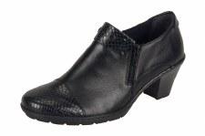 Rieker '57161' Ladies Shoes (Black Snake)