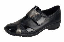 Rieker '58361' Ladies Shoes (Black/Patent)