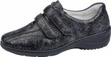 Waldlaufer '607302' Ladies Wide Fitting Shoes (Charcoal Print)