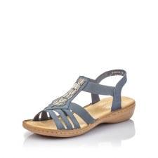 Rieker '60800' Ladies Sandals (Navy)