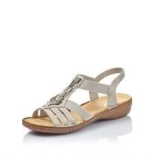 Rieker '60800' Ladies Sandals (Grey)