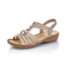 Rieker '60855' Ladies Sandals (Rose)