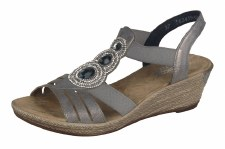 Rieker '62459' Ladies Sandals (Grey)