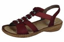 Rieker '62850' Ladies Sandals (Wine)