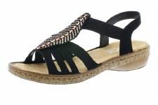 Rieker '628G6' Ladies Sandals (Black)
