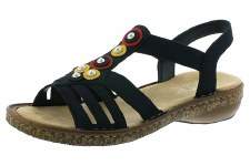 Rieker '628L1' Ladies Sandals (Navy)
