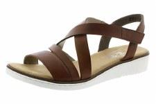 Rieker '63663' Ladies Sandals (Dark Brown)