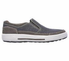Skechers 'Porter - Compen' Mens Shoes (Grey/Navy)