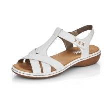 Rieker '65919' Ladies Sandals (White)