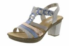 Rieker '66593' Ladies Sandals (Blue Multi)