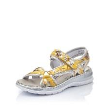 Rieker '66979' Ladies Sandals (Yellow Multi)