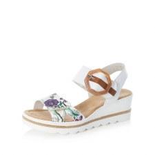 Rieker '67478' Ladies Wedge Sandals (Ice Multi)